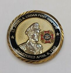 Veterans Of Foreign Wars Vfw Engravable Enameled Challenge Coin 60th Year