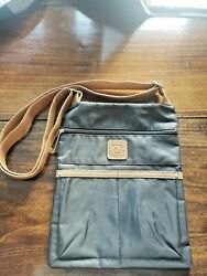 Stone Mountain Crossbody Over The Shoulder Black And Camel Leather Purse $17.00