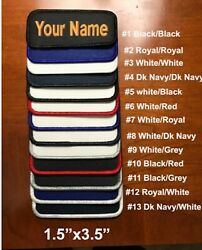 IRON ON Custom Embroidered Name Patch Name TagName Badge Rectangular 1.5quot;x3.5quot; $5.50