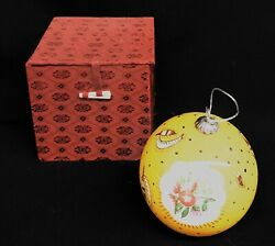 Rare Pierre Deux Avignonet French Country Yellow Christmas Tree Ornament In Box