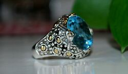 Vintage Collectible John Hardy Sterling Silver And 18k Gold Ring Size 6.75