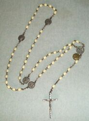 Vintage Rosary With Glow In The Dark Beads Italy