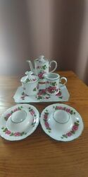 Vintage Mitterteich Bavaria China Tea/demitasse Set With Egg Cups And Tray