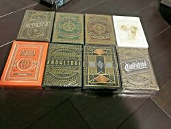 Set Of 8 Theory 11 Playing Cards Animal Kingdomknowledge High Victorianco