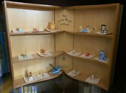 Disney Classic Pooh Miniatures With Book Shaped Display Case - Michel And Co.