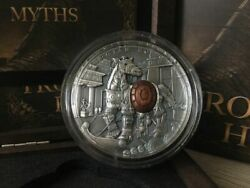 Niue Island Trojan Horse Ancient Myths Silver Coin 10 High Relief 2 Oz