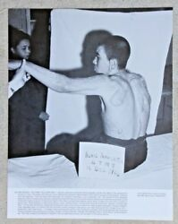 Vintage 11x14 Photograph Wwii Scars Japanese Victim Of Hiroshima Nuclear Bombing