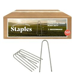 Sandbaggy - 500 - Rust-free 6-inch Landscape Staples Sod - Special Round Pins