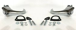 Outside Exterior Door Handles W/ Pads And Hardware For 1964-1966 Ford Mustang
