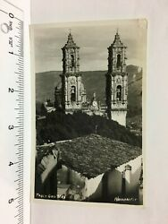 Postcard Taxco Guerrero Mexico Rppc Santa Prisca Church Bell Tower Gro Mex