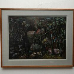 Boyer Gonzales1909-1987 Listed American Artist Mid Century Modern Oil Painting