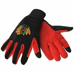 Forever Collectibles Chicago Blackhawks Color Texting Gloves