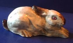 Bavent Or J Filmont Caen Vintage French Rabbit / Bunny Faience From France