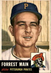 1953 Topps 198 Forrest Main Actual Scan Of The Card Condition Ex-mt
