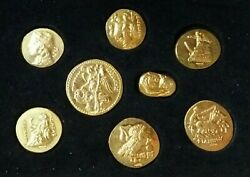 Greece Silver Restrike Of Ancient Greek Coins Silver-goldplated