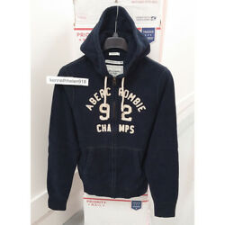 Abercrombie And Fitch Mens Bald Peak Limited Edition Hoodie Sweatshirts Navy Sz L