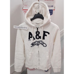 Abercrombie And Fitch Mens Cobble Hill Hoodie Sweatshirts Cream White Size Xxl