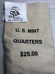 2004 P Iowa - Mint Wrapped State Quarter Bag 100 Coins
