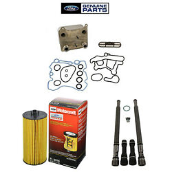 Oem Oil Cooler Stand Pipe/dummy Plugs, And Oil Filter Kit For 2004-2007 Ford 6.0l