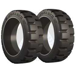 28x10x22 Monarch Solid Forklift Tires 28-10-22 281022 | Oem Tr 2x Deal