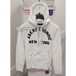 Abercrombie And Fitch Mens East River Trail Hoodie Sweatshirts White Size M,l