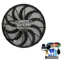 34 35 36 Chevy Pickup Electric Radiator Fan 16 High Output 220w And Relay Kit
