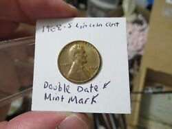 1968-s Lincoln Cent Double Date And Mint Double Die Error Variety
