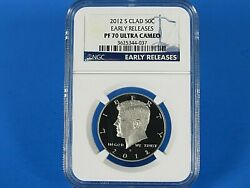 2012 S Clad Kennedy Half Dollar Ngc Pf 70 Ultra Cameo Early Releases
