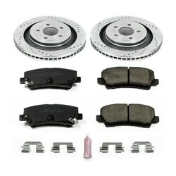 K6812 Powerstop 2-wheel Set Brake Disc And Pad Kits Rear New For Ford Mustang