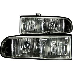 111156 Anzo Headlight Lamp Driver And Passenger Side New For Chevy S10 Pickup