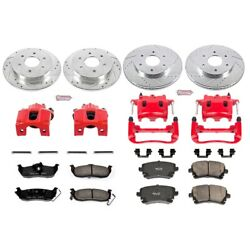 Kc2443 Powerstop Brake Disc And Caliper Kits 4-wheel Set Front And Rear For Titan