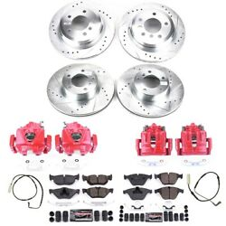 Kc4104 Powerstop 4-wheel Set Brake Disc And Caliper Kits Front And Rear For 328