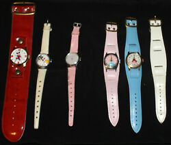 Vintage Lot 5 Disney Wind-up Watches Snow White Dopey Mickey Mouse Cinderella