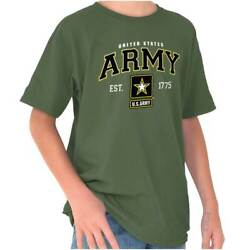 Official American US Army Logo Armed Forces Youth T-Shirt Tees Tshirt For Kids $19.98