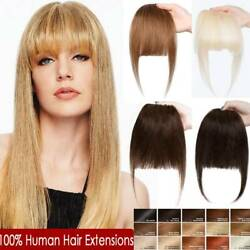 Us Side Bangs Clip On Neat/air Bang Fringes Clip In 100 Human Hair Extensions M