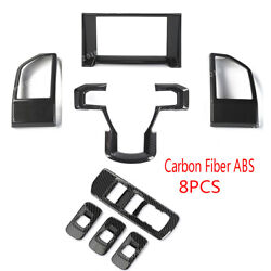 Carbon Fiber Abs Steering Steel Window Lift Button Cover For Ford F150 2015-2017