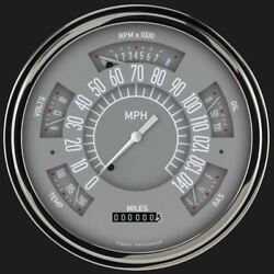 Gray 1949-50 Chevy Classiclinegauge - Classic Instruments - Ch49g