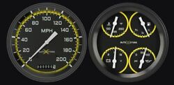 Auto Cross Yellow 1947-53 Gm Pick-up Gauges - Classic Instruments - Ct47axy52