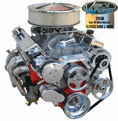 Vintage Air Engine Drive System Bright And Chrome Sm Block Chevy Pwr Strg W/pump