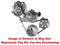 Vips - Turbo Trac Serpentine - Sb Chevy - Satin W/140a Alt And Ps - No Ac