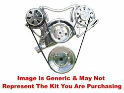 Vips - Turbo Trac Serpentine System - Bb Chevy - Satin - No Ps