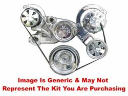 Vips - Turbo Trac Serpentine System - Ls - Polished W/edelbrock Wp And Ac Line