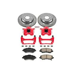 Kc1631 Powerstop Brake Disc And Caliper Kits 2-wheel Set Front For Jeep Liberty