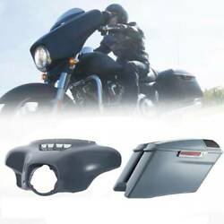 Abs Gray Outer Fairing Saddlebags Fit For Harley Street Electra Glide 14-20 Cvo