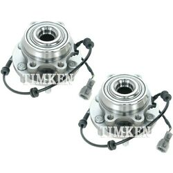 Set-tmsp450701 Timken Wheel Hubs Set Of 2 Front Driver And Passenger Side New Pair