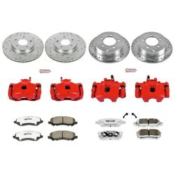 Kc2840-26 Powerstop 4-wheel Set Brake Disc And Caliper Kits Front And Rear For 200