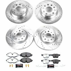 K7502-26 Powerstop Brake Disc And Pad Kits 4-wheel Set Front And Rear New For Audi
