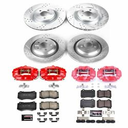 Kc4023 Powerstop 4-wheel Set Brake Disc And Caliper Kits Front And Rear For 300