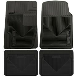 Set-h2151111-4 Husky Liners Floor Mats Set Of 4 Front New Black For Vw Coupe