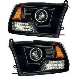 111159 Anzo Headlight Lamp Driver And Passenger Side New For Ram Truck Lh Rh 1500